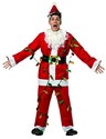 Rasta Imposta Mens National Lampoons Christmas Vacation Light Up Santa Suit, Red/White, One Size